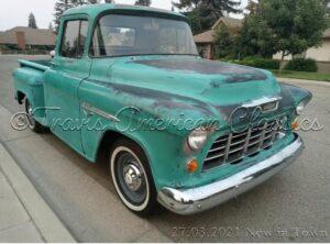 55 Chevy Pick Up 3100 Stepside 1.Lack mit Patina